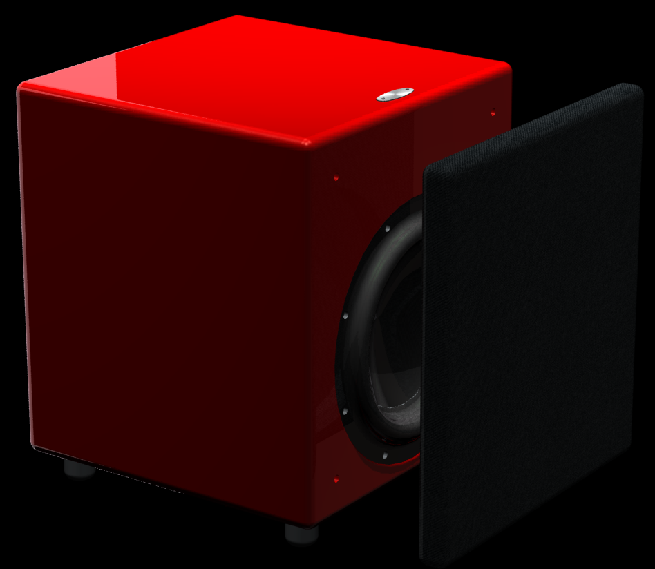 home theater subwoofer red paint